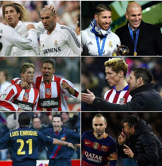 When your teammate becomes your manager. #football #soccer #fifa #championsleague #premierleague #worldcup #laliga #españa #spain #real #realmadrid #madrid #barca #barcelona #atleti #atletico #atleticomadrid