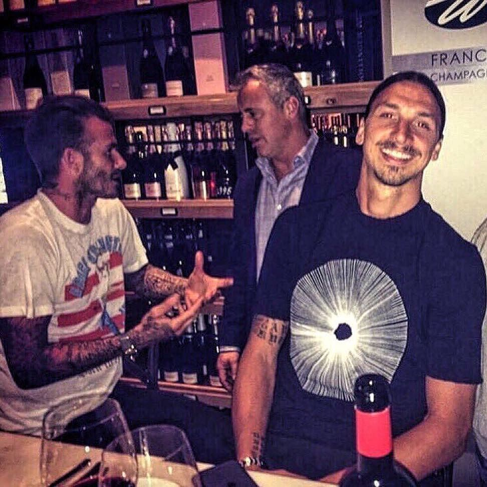 Just a picture of Zlatan Ibrahimović, David Beckham and Joey Tribbiani on a night out in LA.  #football #soccer #fifa #uefa #worldcup #championsleague #premierleague #la #usa #america #mufc #acmilan #juventus #psg #barcelona #realmadrid #zlatan #beckham