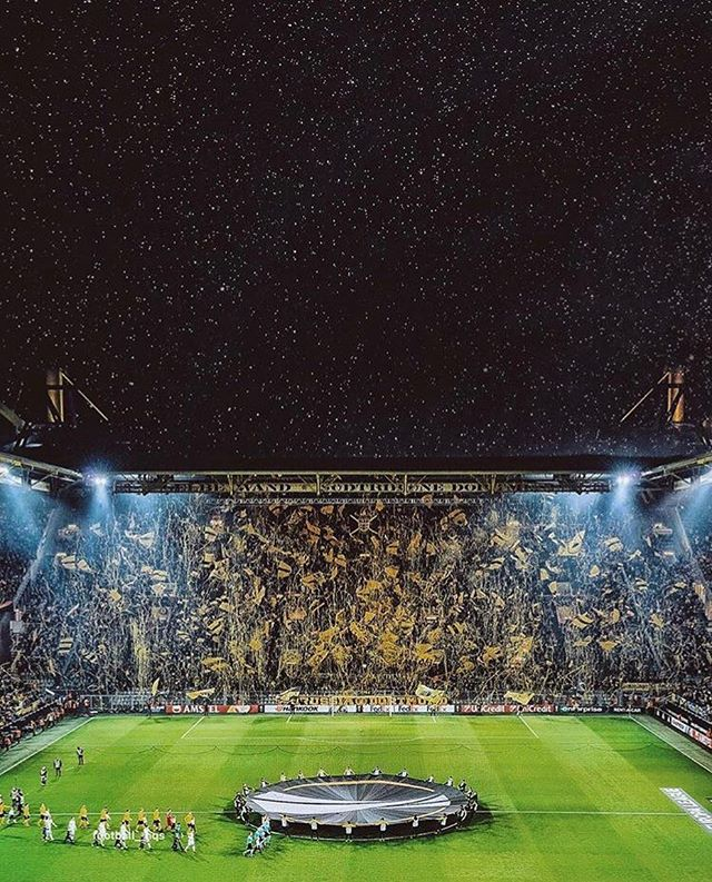 Under the stars.  #football #soccer #fifa #uefa #worldcup #championsleague #bundesliga #borussia #dortmund #borussiadortmund #germany