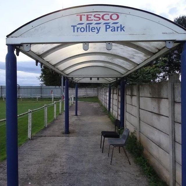 Teversal FC in Mansfield use a 'Tesco Trolley Park' as their away end
