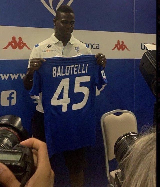 Mario Balotelli after joining Brescia, his hometown club: